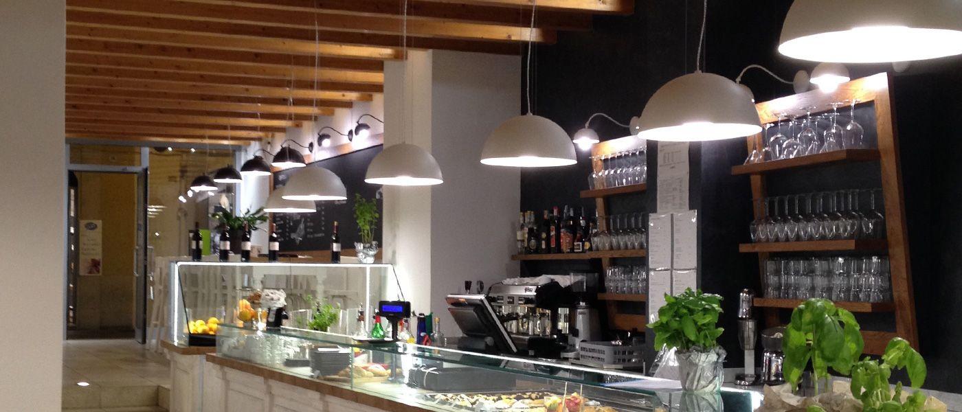 Eclairage comptoir restaurant BRAGA