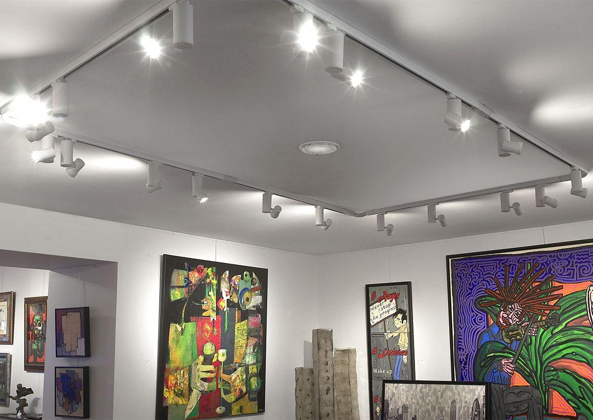 Eclairage galerie d'art cubi spot