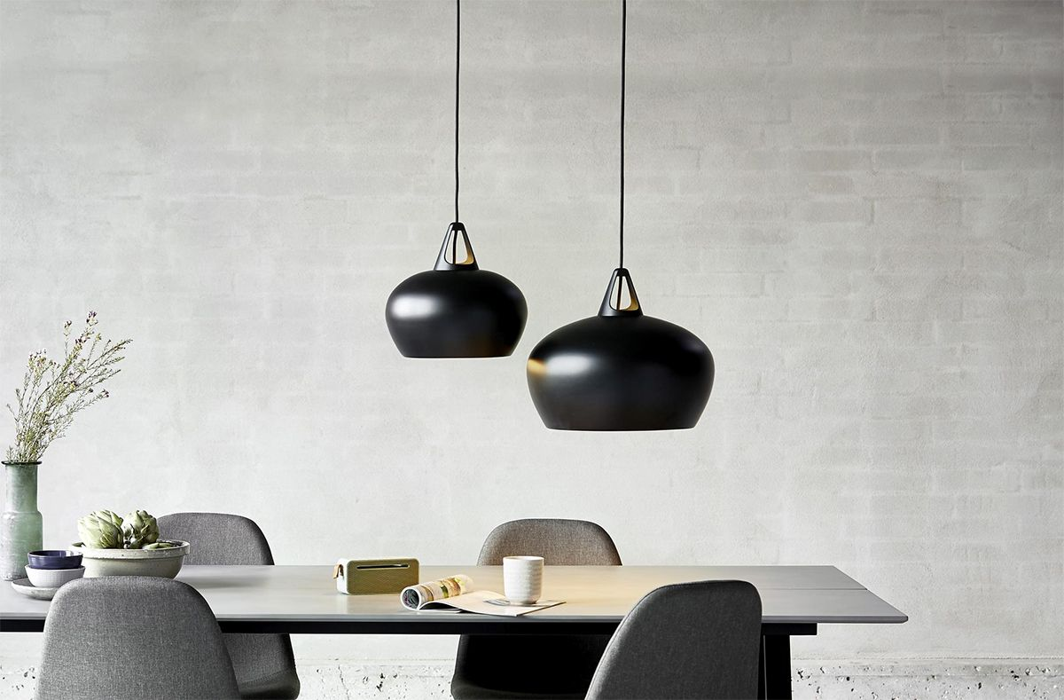 Eclairage suspension noir design Nordlux