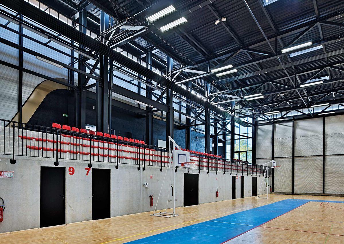Réalisation éclairage SFEL Gymnase Deauville