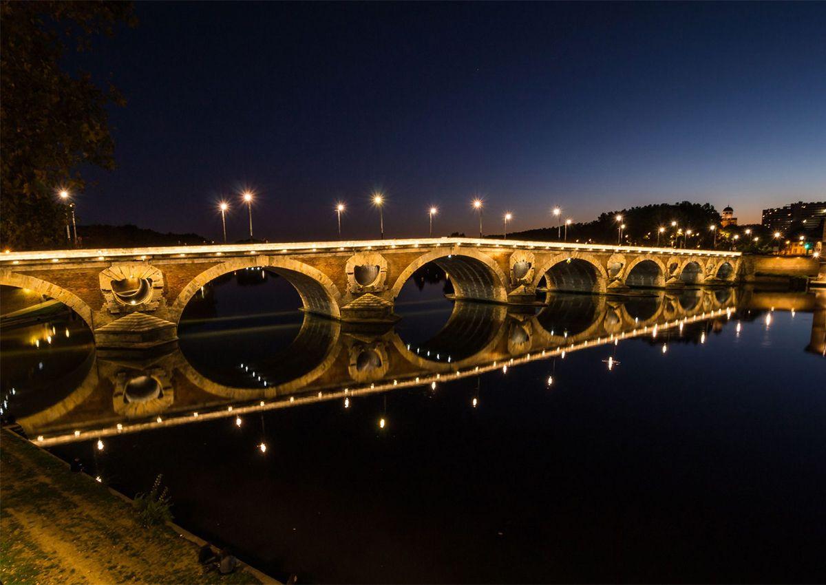 Réalisation éclairage SFEL Pont Neuf à Toulouse