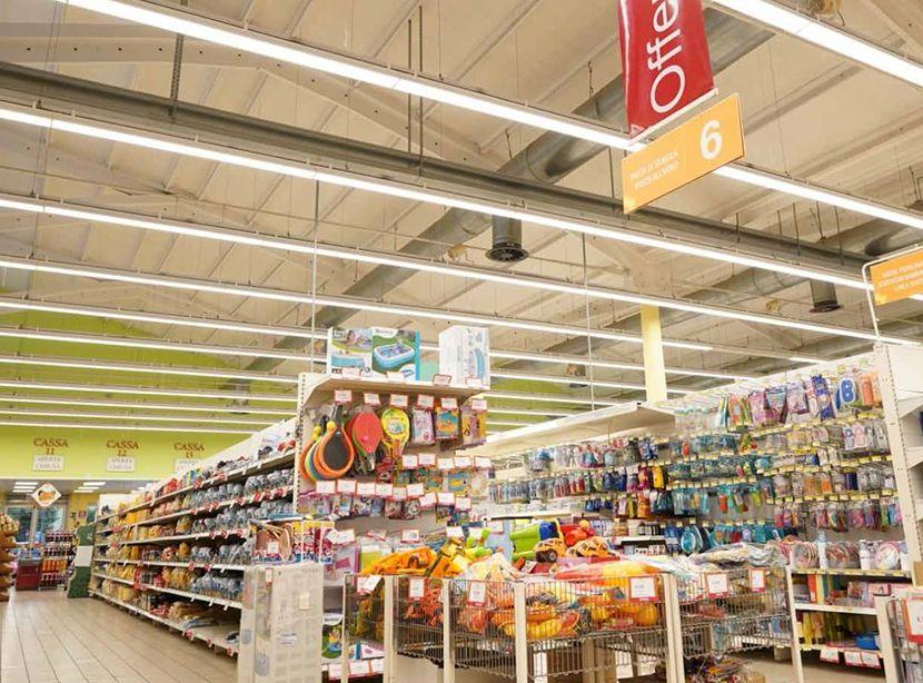 Eclairage concord supermarché